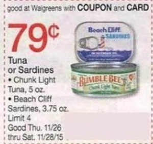 Tuna or Sardines w/ Coupon & Card