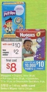 Huggies Diapers w/ Card