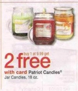 Patriot Candles w/ Card