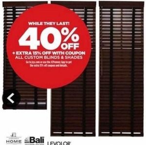 Custom Blinds and Shades Entire Stock