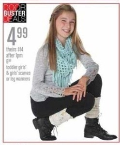 Girls' Scarves or Leg Warmers