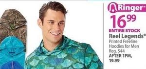 Entire Stock of Men's Reel Legends Printed Freeline Hoodies
