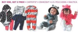 Carters, Oshkosh, US Polo Assn, and Nautica Infant Sets