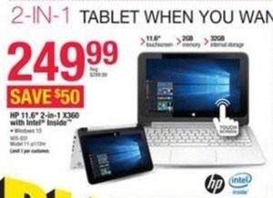 "HP 11.6"" 2-in-1 X360 Laptop"