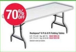 Realspace 6ft. & 8ft. Folding Tables