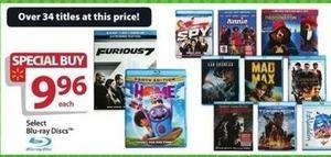 Select Blu-rays