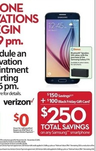 Samsung Smartphone + $100 Gift Card