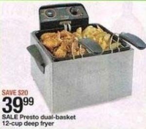 Presto Dual-Basket 12-cup Deep Fryer