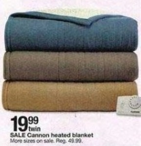 Cannon Twin Heated Blanket