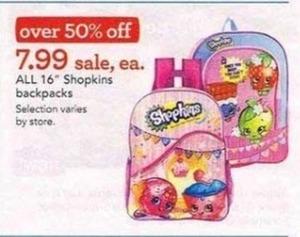 "All 16"" Shopkins Backpacks"