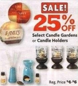 Select Candle Gardens or Candle Holders
