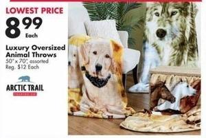"Assorted Luxury Oversized 50"" x 70"" Animal Throws"