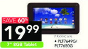 """Proscan 7"""" 8GB Android 4.4 KitKat Touchscreen Tablet"""