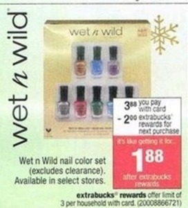Wet n Wild Nail Color Set (After ExtraBucks Rewards)