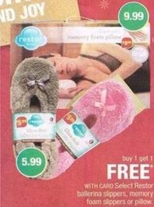 Select Restor Ballerina Slippers, Memory Foam Slippers, or Pillow