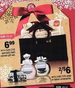 CVS Soap or Lotion Ornaments