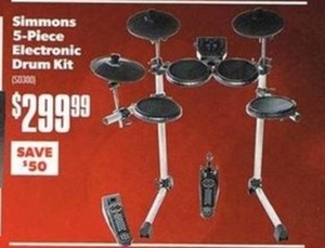 Simmons 5Piece Electronic Drum Kit