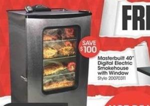 "Masterbuilt 40"" Digital Electric Smokehouse w/ Window"