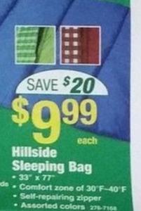 Hillside Sleeping Bag