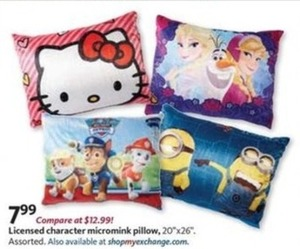 Licensed Character Micromink Pillow