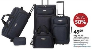 American Airlines 5pc Luggage Set