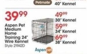Select Aspen Pet Medium Home Training Wire Kennels