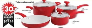 7-Piece Ceramic Cookware Set