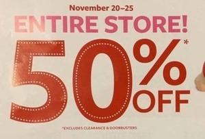Entire Store 11/20-11/25