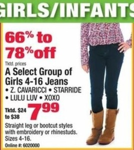 Select Girls Jeans
