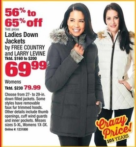 Women's Free Country and Larry Levine Down Jackets