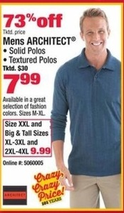 Men's Architect Solid and Textured Polos