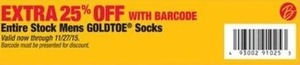 Entire Stock of Men's Goldtoe Socks (with Barcode)