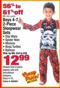 Boys 4-7 2-piece Sleepwear Sets