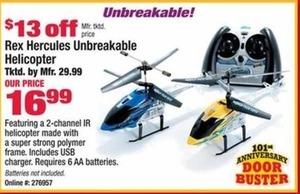 Rex Hercules Unbreakable Helicopter