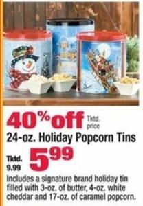 24-oz. Holiday Popcorn tins