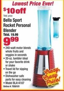 Bella Sport Rocket Personal Blender