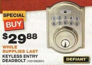 Defiant Keyless Entry Deadbolt