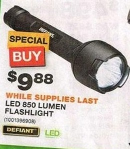 Defiant LED 850 Lumen Flashlight