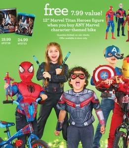 "Free 12"" Marvel Titan Heroes Figure w/ Any Character-Themed Bike Purchase"