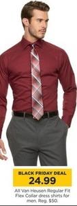 All Men's Van Heusen Regular Fit Flex Collar Dress Shirts