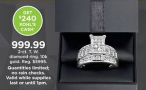 2 cttw Diamond Ring in 10k Gold + $240 Kohl's Cash