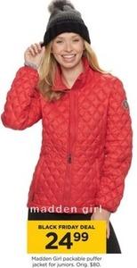 Madden Girl Packable Puffer Jacket for Juniors