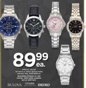 All Men's or Women's Special Value Watches