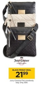 Juicy Couture Flat Crossbody Bag