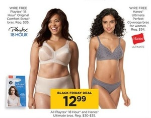 All Playtex 18 Hour and Hanes Ultimate Bras