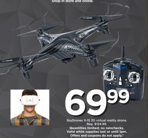 SkyDrones X-15 3D Virtual Reality Drone