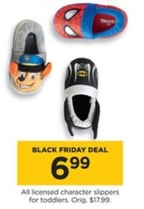 Licensed Character Slippers for Toddlers