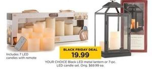 LED Metal Lantern or 7PC LED Candle Set