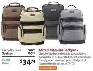 Mixed Material Backpack