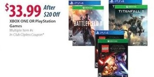 XBox One or Playstation Games
